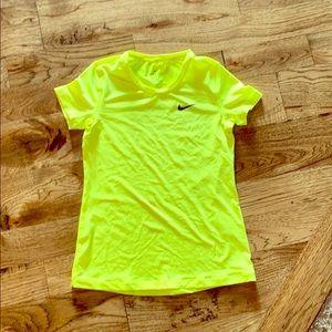 Girls Nike Dri-Fit Neon Yellow Size Large LIKE NEW